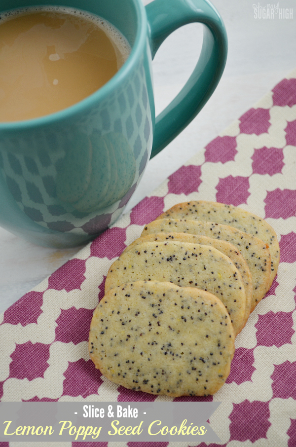 Slice and Bake Lemon Poppy Seed Cookies