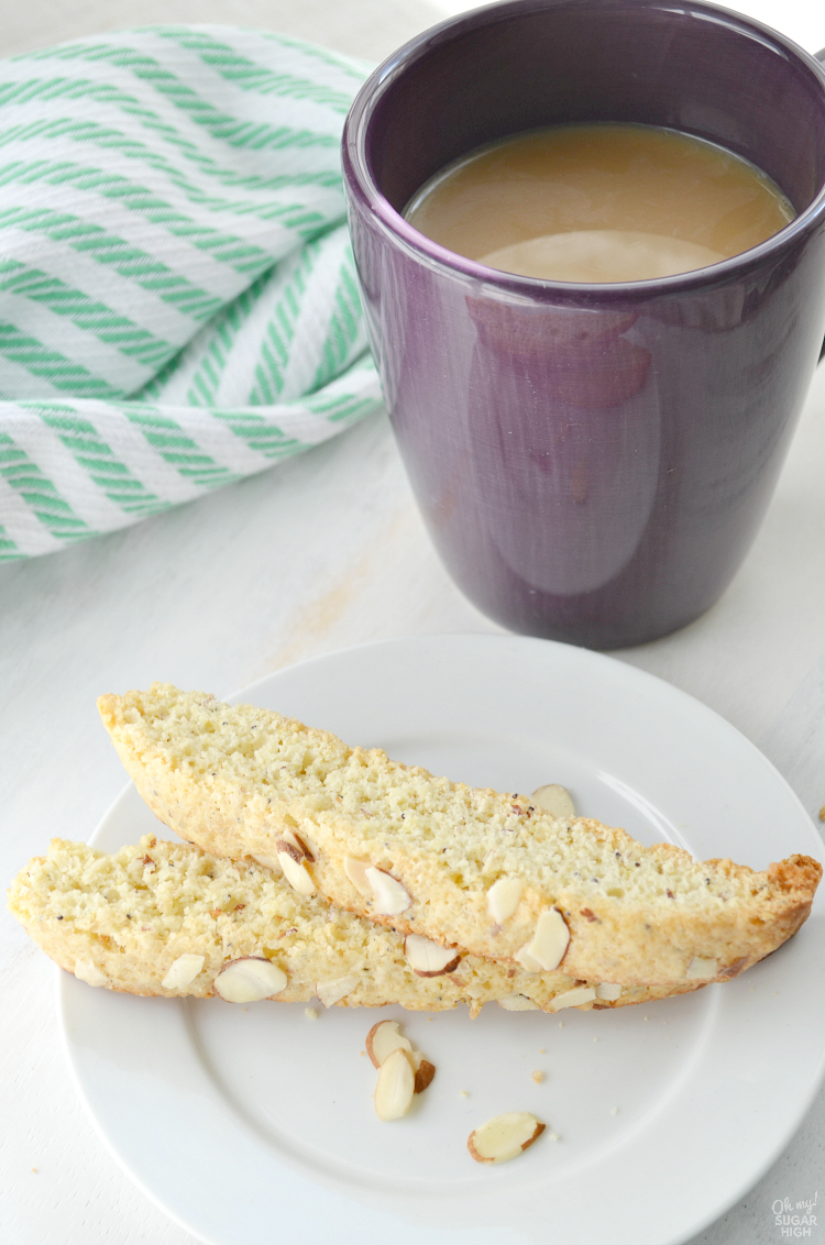 Enjoy homemade biscotti? Make this lemon poppy seed biscotti for the perfect pairing with your coffee or tea. You'll love dunking this crunchy lemon biscotti with almonds!
