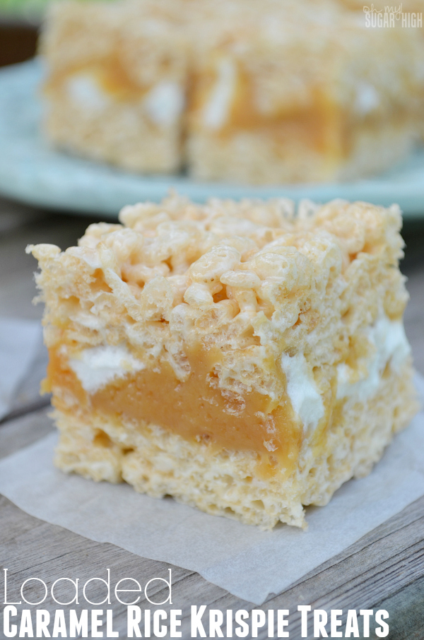 Loaded Caramel Rice Krispie Treats