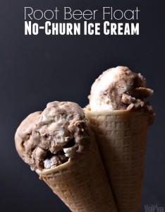 Root Beer Float No Churn Ice Cream