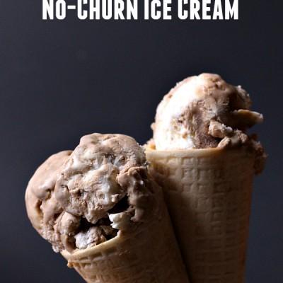Root Beer Float No-Churn Ice Cream