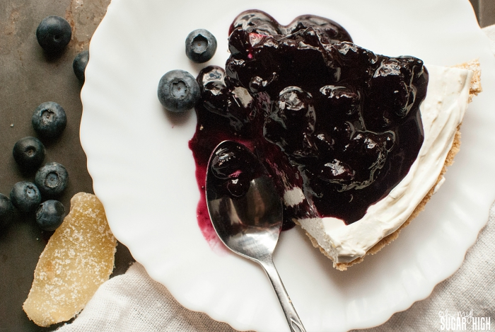 Blueberry Ginger No Bake Cheesecake