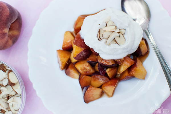 Brown Sugar Peaches and Coconut Whipped Cream