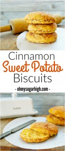 Cinnamon Sweet Potato Biscuits