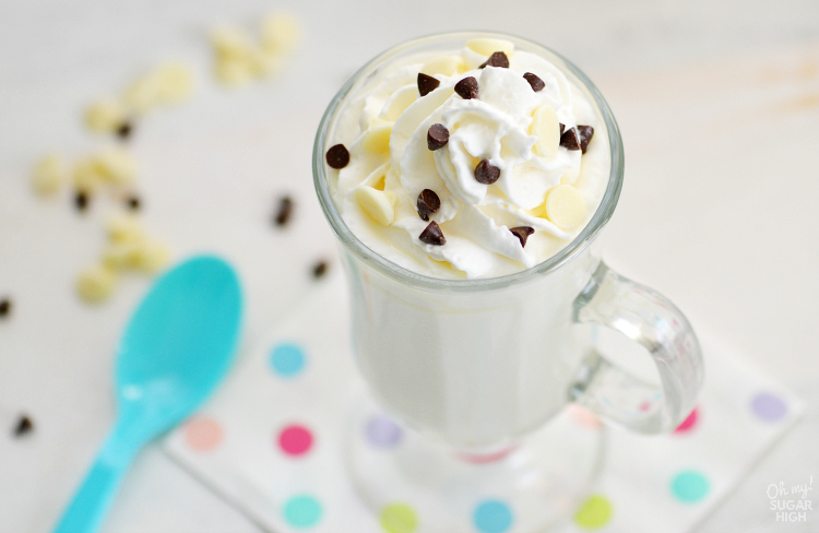 Looking for the perfect homemade hot chocolate recipe? Look no further than this Easy White Hot Chocolate. Deliciously creamy and sweet, it is the perfect sweet drink to warm up with on a cold day!