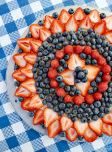 Sugar Cookie Fruit Pizza with Fresh Berries