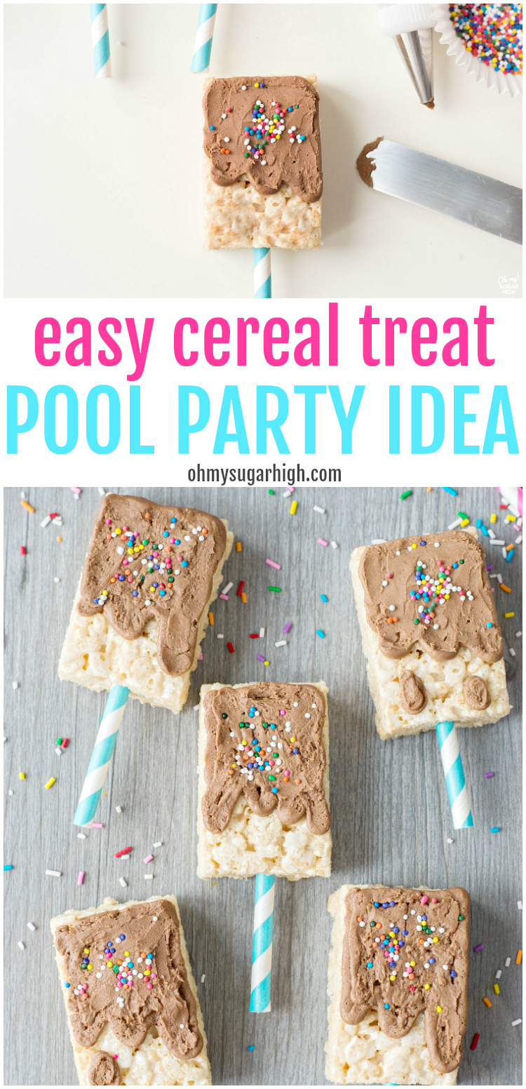easy cereal treat pool party idea