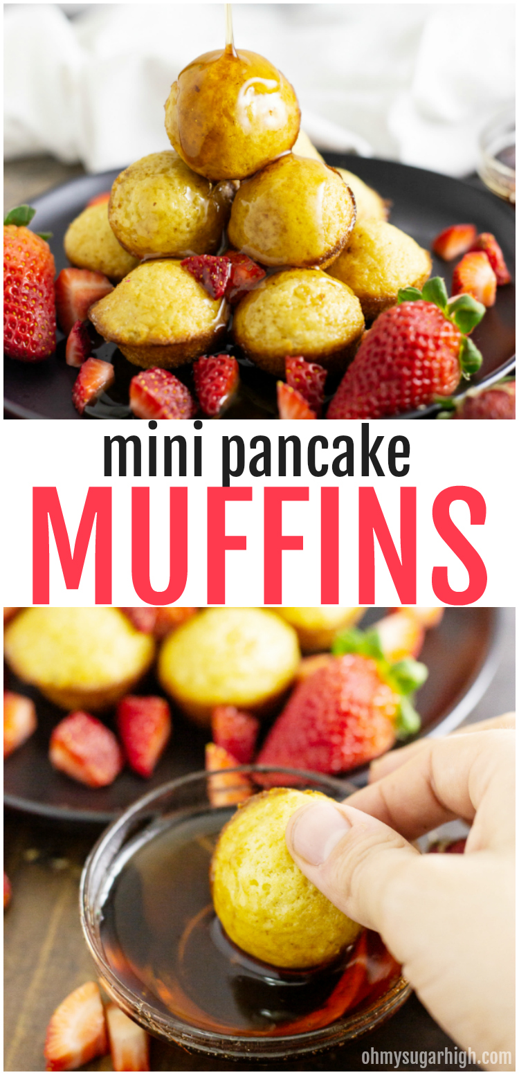 Make pancakes the easy way with these pancake muffins from scratch! These mini muffins are perfect for busy mornings. Pop them in your mouth while on the go or serve them up with syrup and fresh fruit. Either way they are sure to be a hit with your family.