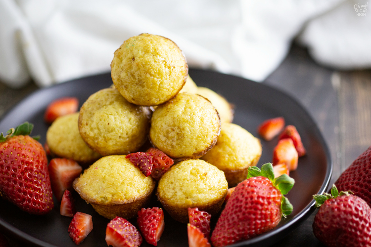 How to make mini pancake muffins bites