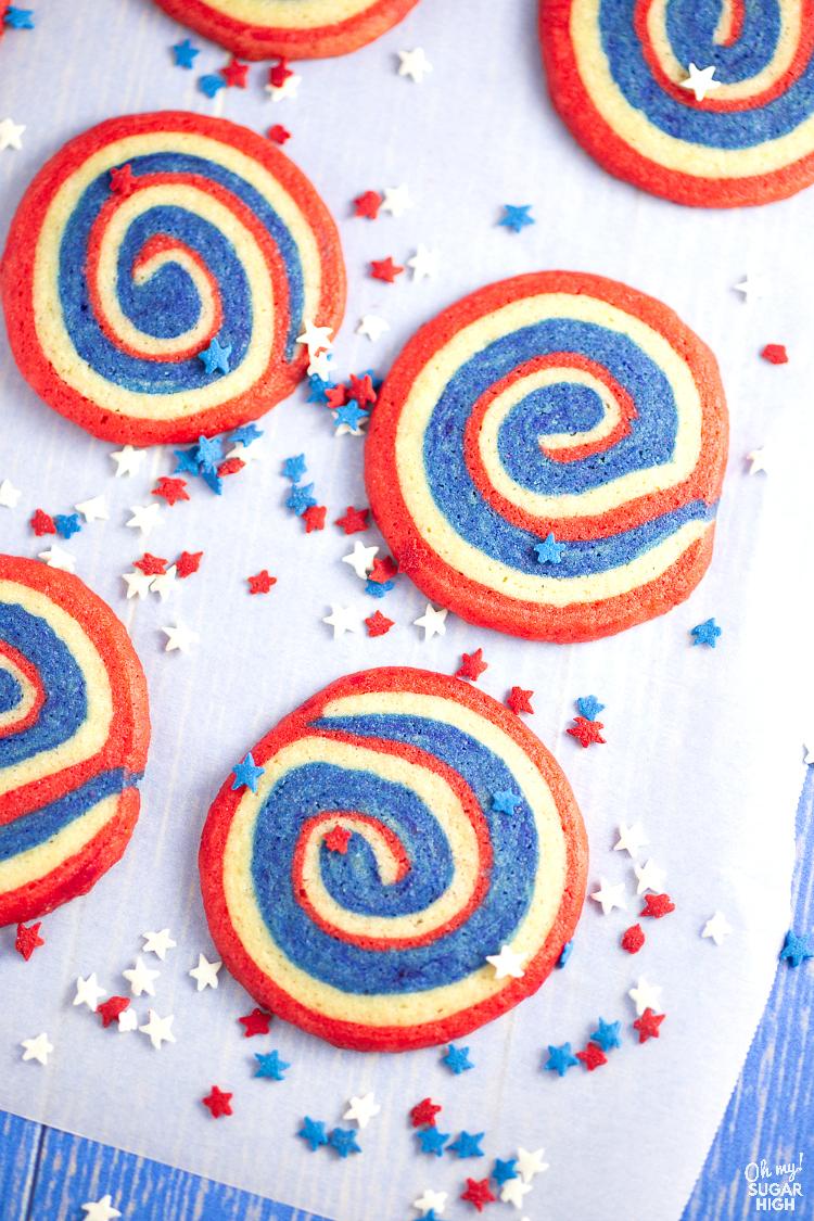Memorial Day Special Pinwheel Cookies Idea