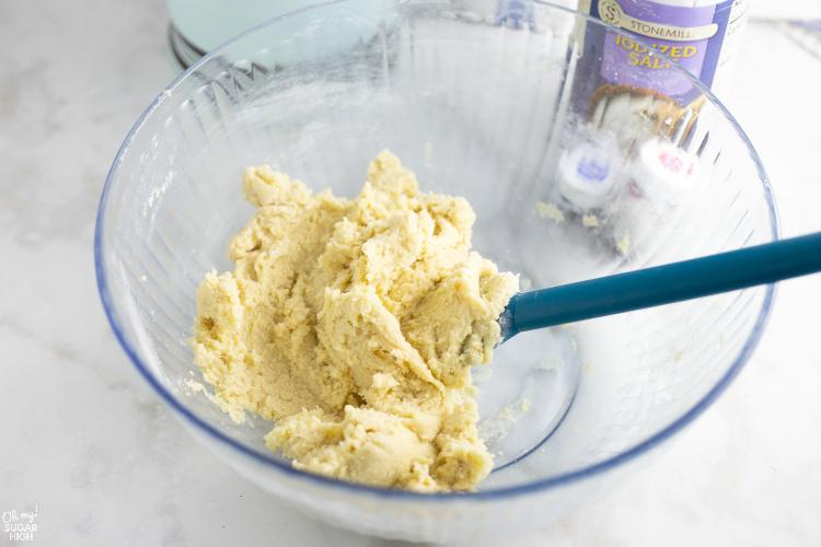Pinwheel Cookies Dough Mixed Together