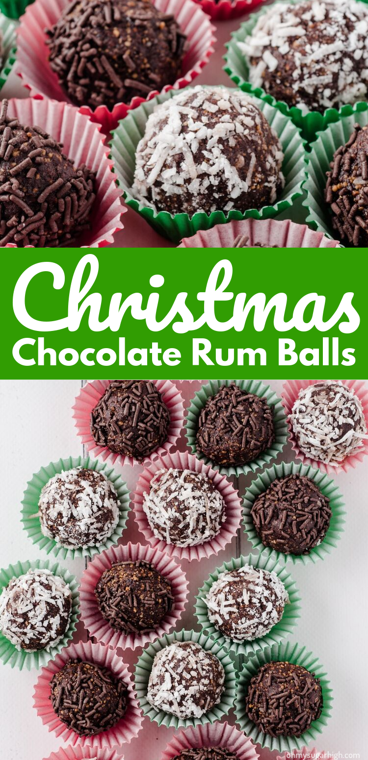 Chocolate rum balls are the perfect holiday indulgence! Made from graham cracker crumbs, this no make dessert is a great addition to your holiday gathering and easy to transport. Give this decadent confection a try!