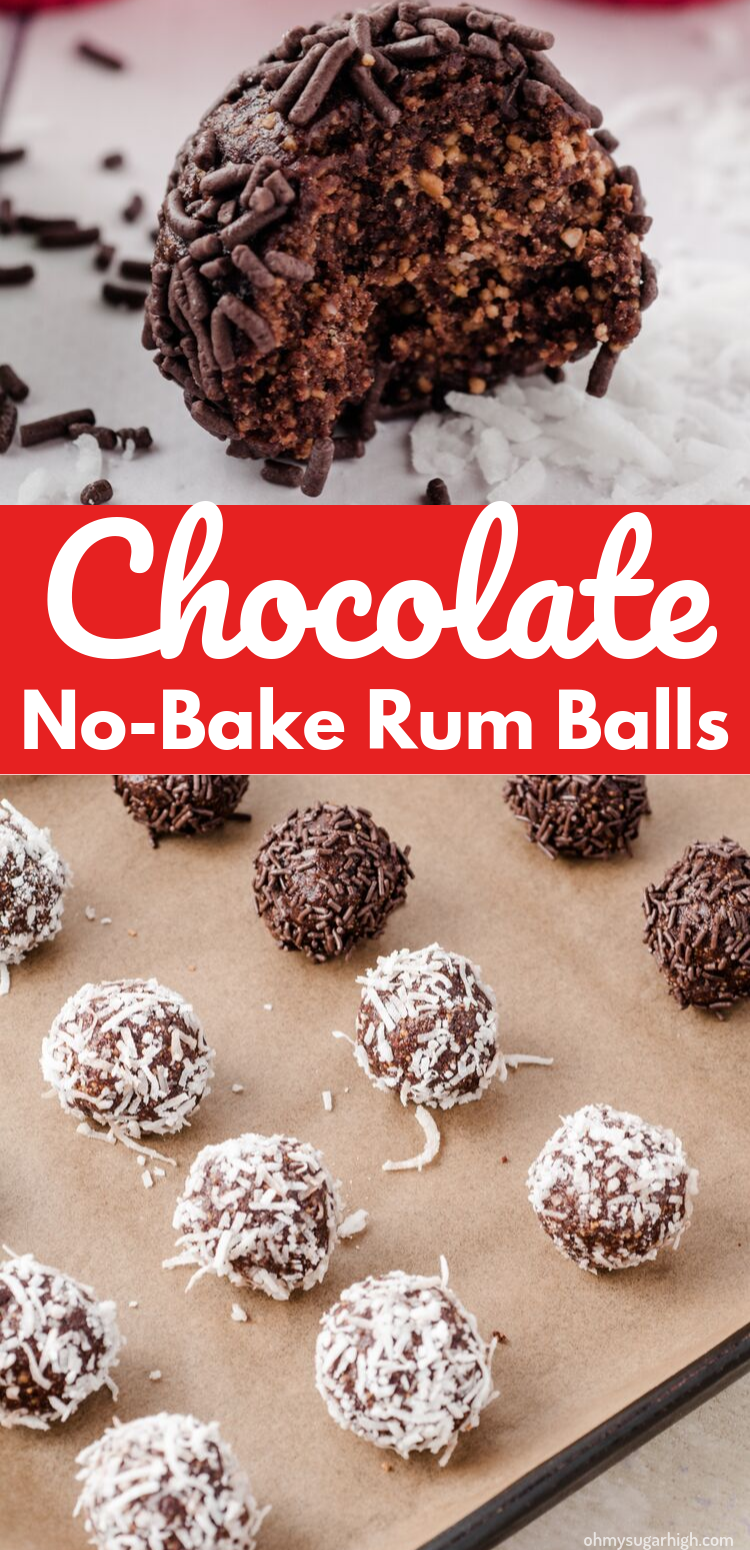 Rum Balls are a perfect truffle-like confection. Rich and decadent, you won't be able to resist these no bake chocolate rum balls! Whether you make them yearly as part of your holiday baking tradition or just have a chocolate craving, you can't go wrong with this classic sweet.