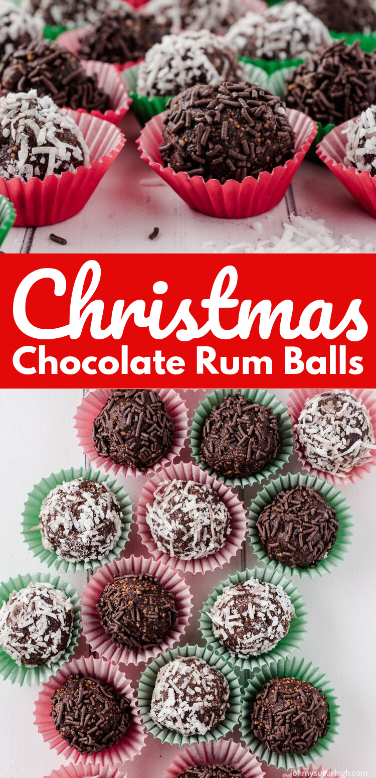 These No Bake Chocolate Rum Balls are a decadent addition to your holiday dessert tray. Neither dry nor too gooey, this rum ball recipe is so easy to make and features a perfect balance of chocolate and rum.