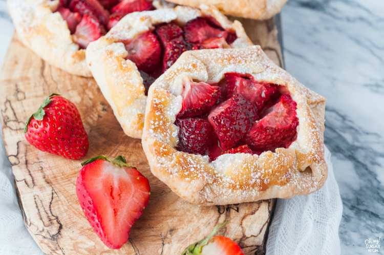 Best Strawberry Galette recipe with fresh strawberries and pastry crust from scratch