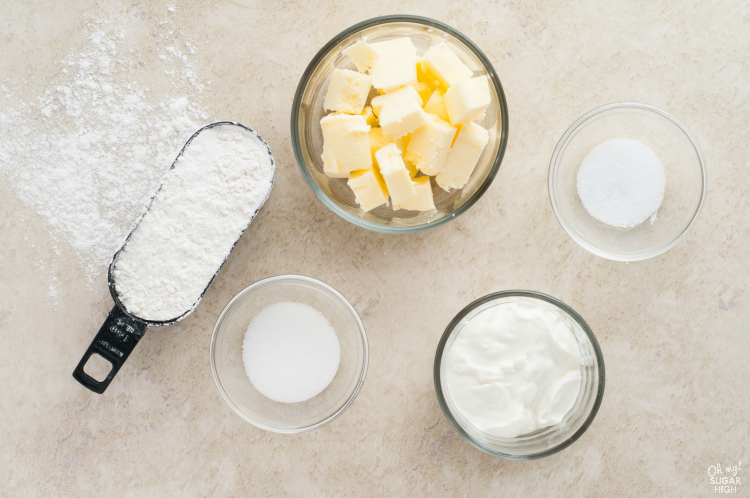 Homemade pastry crust ingredients