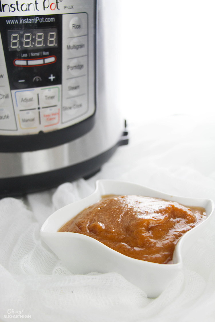 Homemade applesauce instant pot recipe with peels on