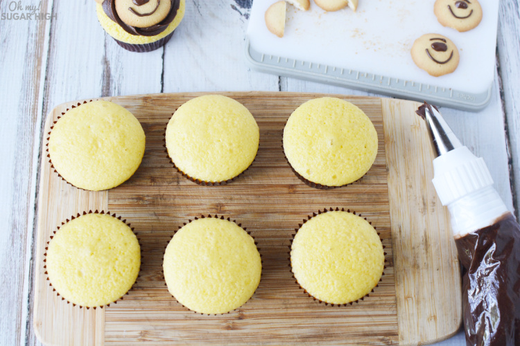Vanilla cupcakes ready to be frosted